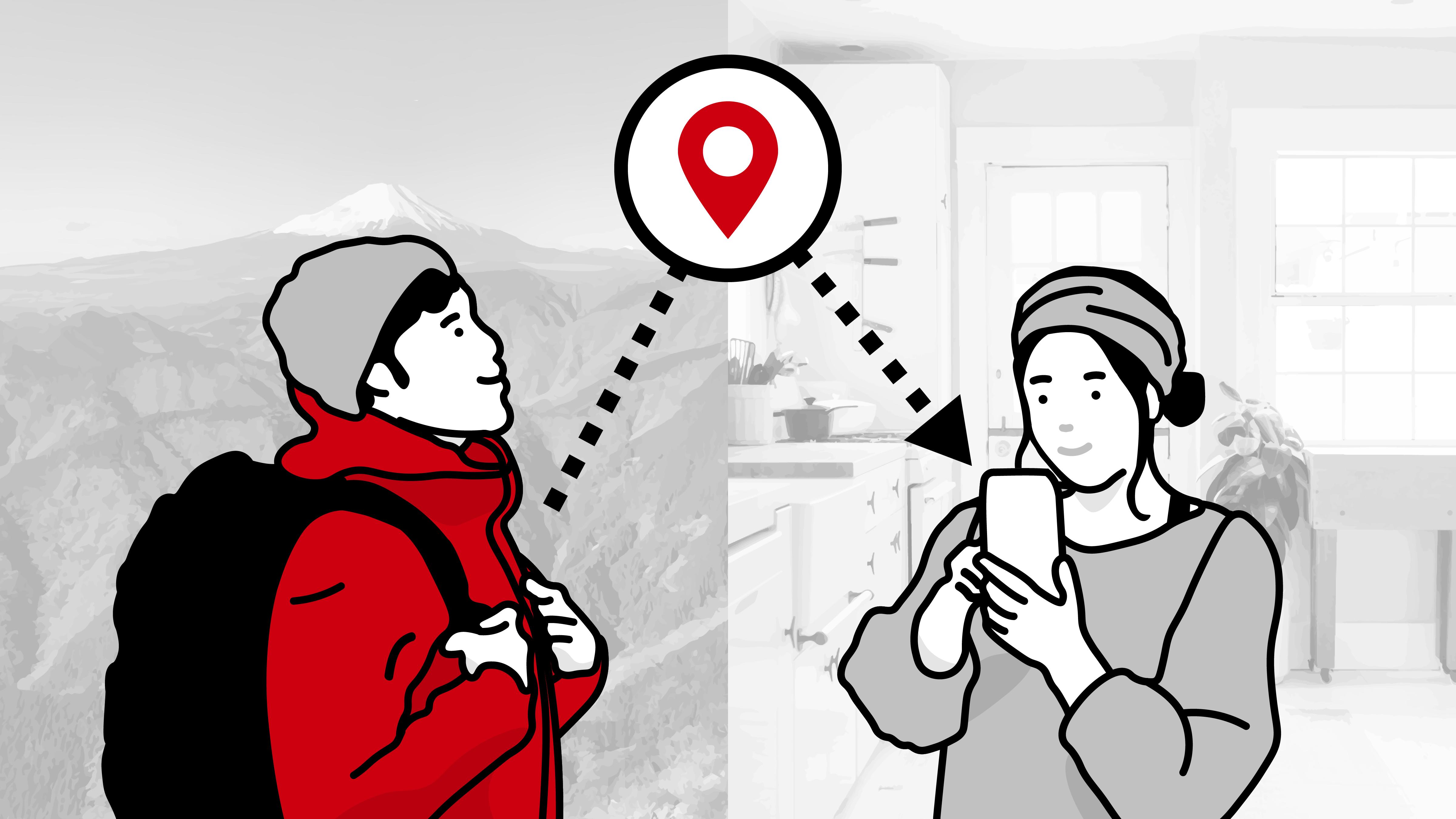 登山アプリ『YAMAP』、電波の届かない場所でもGPS位置情報を家族や友人などに随時通知する新機能をリリース