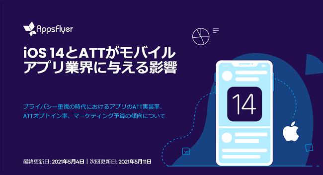 iOS14.5浸透率は1割未満、国内のATTオプトイン率は平均約31%(AppsFlyer調査)